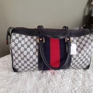Authentic Gucci Vintage Duffle Bag